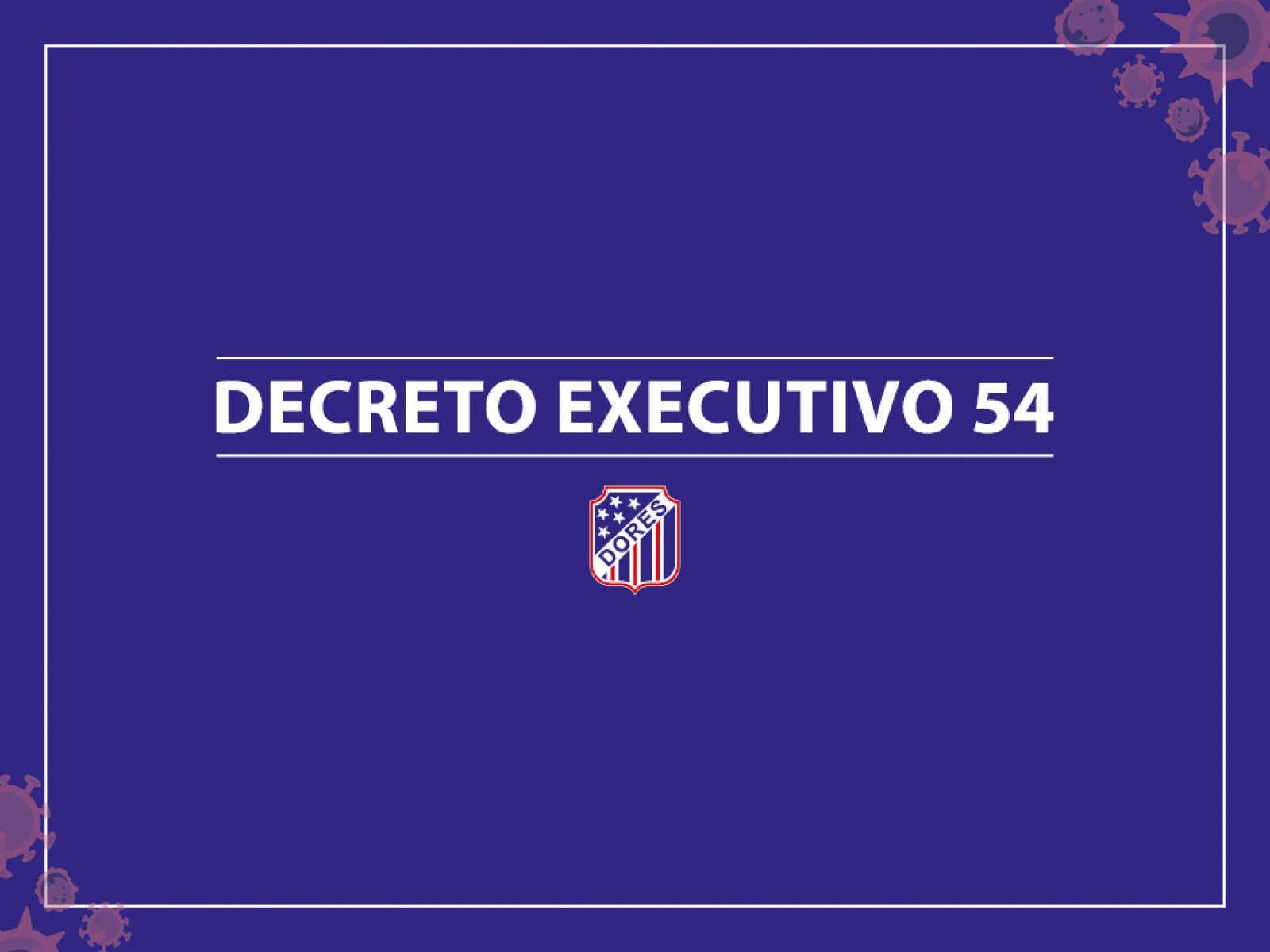 Decreto Executivo 54