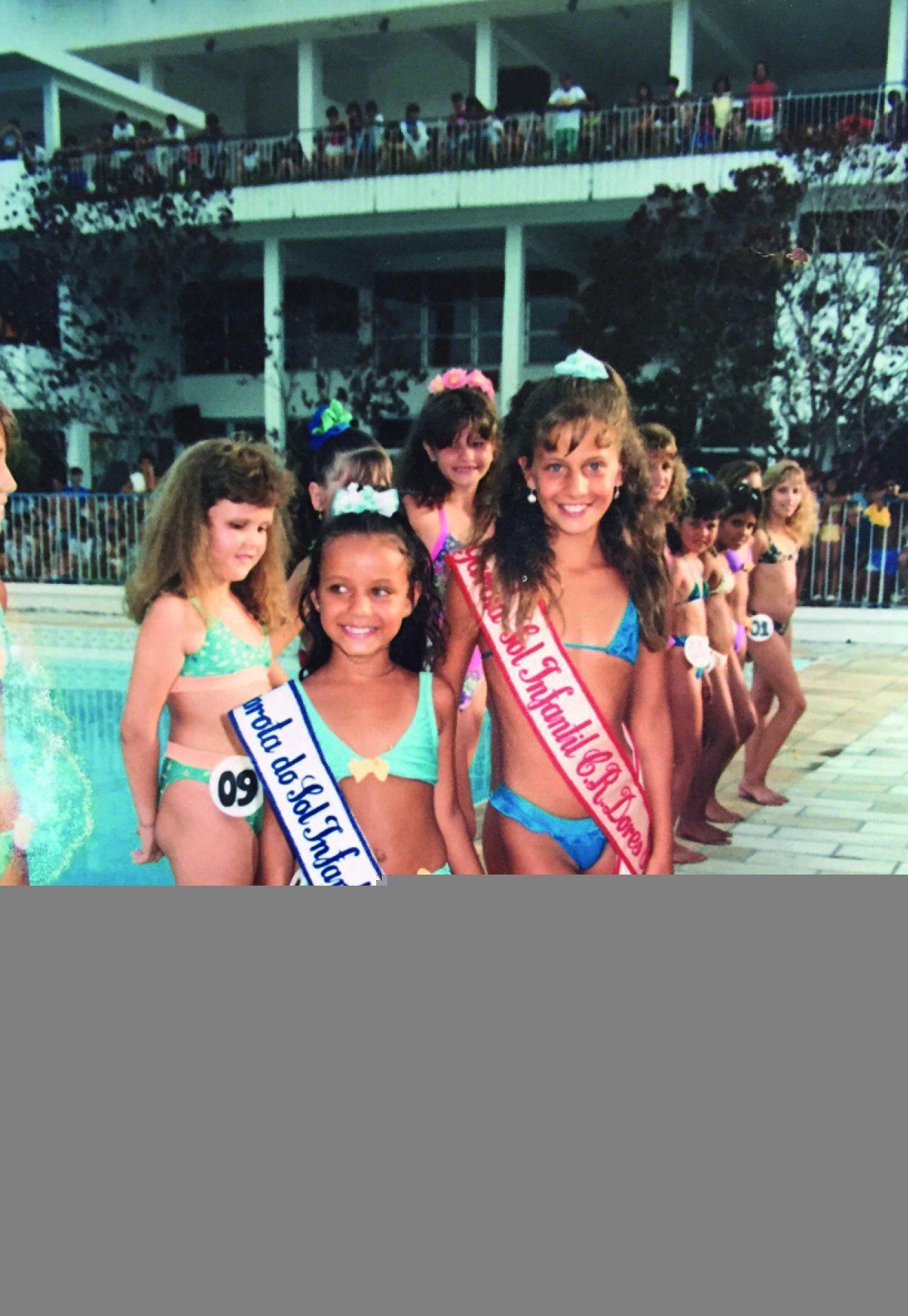 Concurso Garota do Sol 1990, no qual Etiele ficou em segundo lugar.