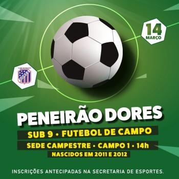 Peneirão Futebol de Campo sub 9