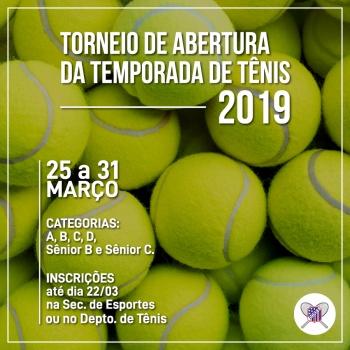 Torneio de Abertura da Temporada de Tênis 2019