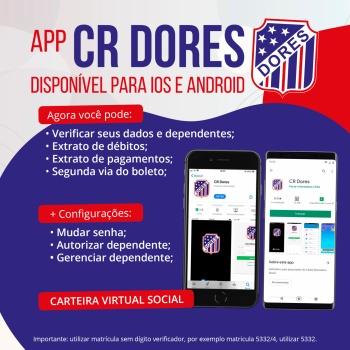 Aplicativo CR Dores disponível para download