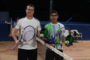 Categoria B: Campeão Vinicius Sangoi (à direita) e vice João Gustavo Kraetzig (à esquerda)