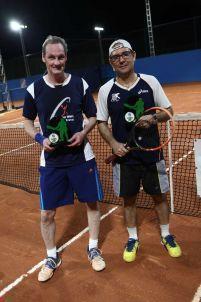 Categoria Sênior C: Campeão Carlos Heitor Moreira (à direita) e vice Alexandre Gelain (à esquerda)
