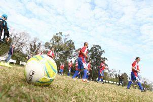 Equipe Dores em partida válida pela final da 30ª Copa de Veteranos.