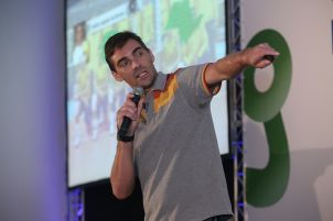 Um dos pontos altos, na parte das palestras, foi a fala do ex-jogador de vôlei Giba.