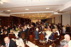 O jantar após a posse, com familiares e convidados.