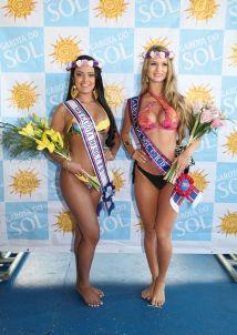 As grandes vencedoras da categoria adulta: Gabriella Dellavechia Palma (dir.), em primeiro, e Renata Mello Duarte (esq.), em segundo.